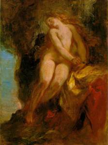 """Andromeda"" by Eugene Delacroix c.1852.  Public Domain"